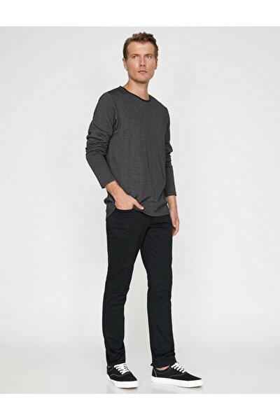 Erkek Siyah Cep Detaylı Pantolon 0KAM42715BW