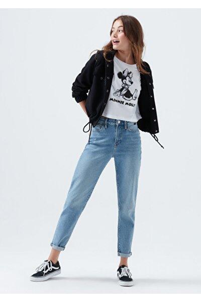 Kadın Mavi Cindy Gold Icon Gölgeli Jean Pantolon