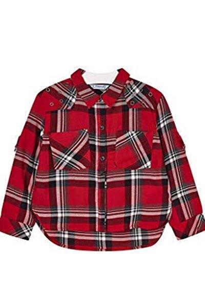Kız Kırmızı Kışlık Ekose Gömlek