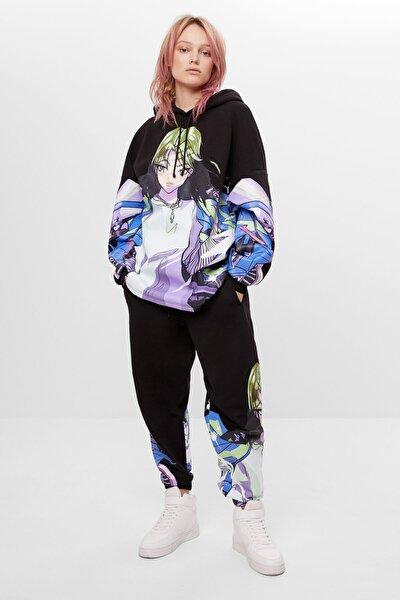 Kadın Siyah Jogging Fit Pantolon