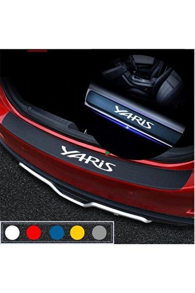 Toyota Yaris Için Karbon Bagaj Ve Kapı Eşiği Sticker Seti