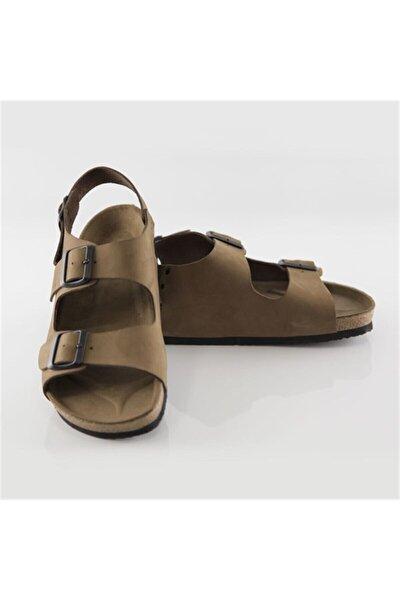 Erkek Kum Hakiki Deri Phaselıs Sandalet
