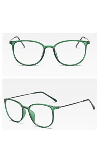 Kottdo Mavi Radyasyon Koruması Yenı Moda Unısex Kare Şeffaf Gözlüğü