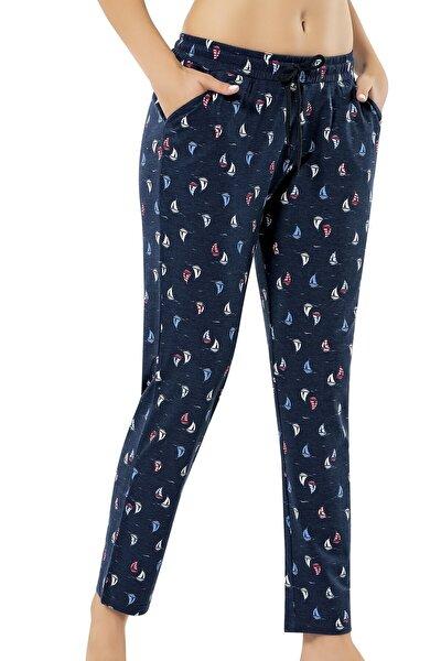 Kadın Lacivert  Tek Alt Pijama
