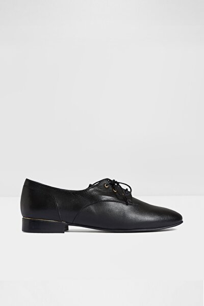 Kadın Siyah Kovylına Oxford Ayakkabı