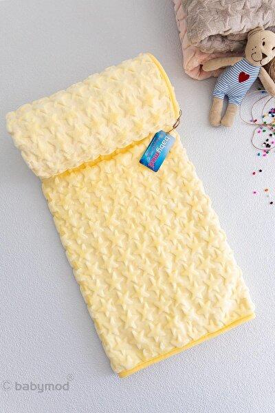 Sarı Yıldızlı Peluş Bebek Battaniyesi