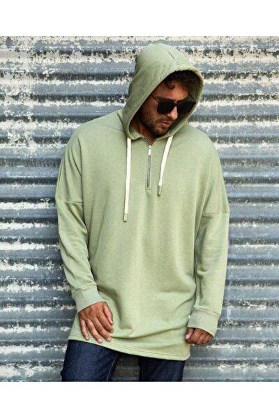 Unisex Yeşil Mint Kapüşonlu Sweatshirt