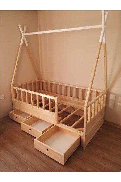 Montessori Çocuk Karyola Kızılderili