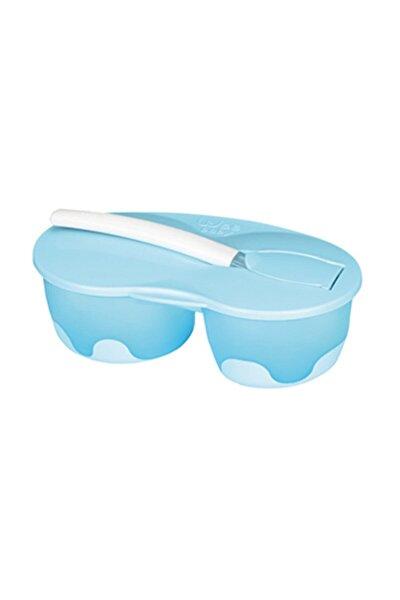 2 Hazneli Mama Kabı Seti - Mavi