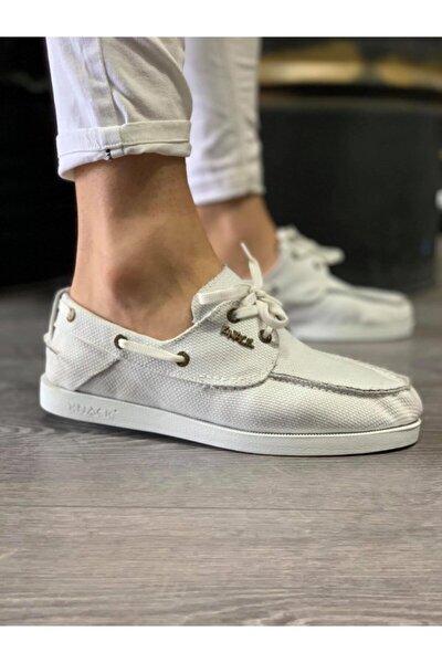 Mevsimlik Keten Ayakkabı 008 Beyaz