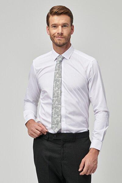 Erkek Beyaz Tailored Slim Fit Gömlek