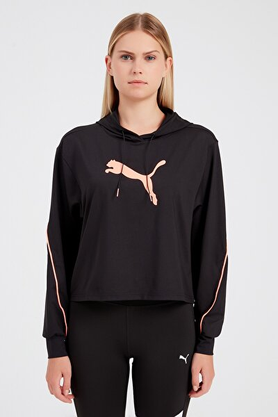 Kadın Siyah Spor Sweatshirt