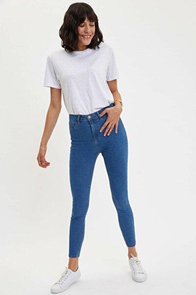 Kadın Mavi Kot Anna Yüksek Bel Super Skinny Jean Pantolon