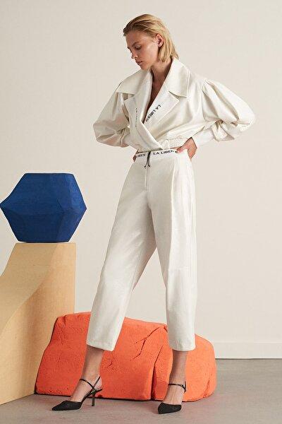 Kadın Taş Beli Ribanalı Rugan Pantolon Kadın N21K-3326-0021