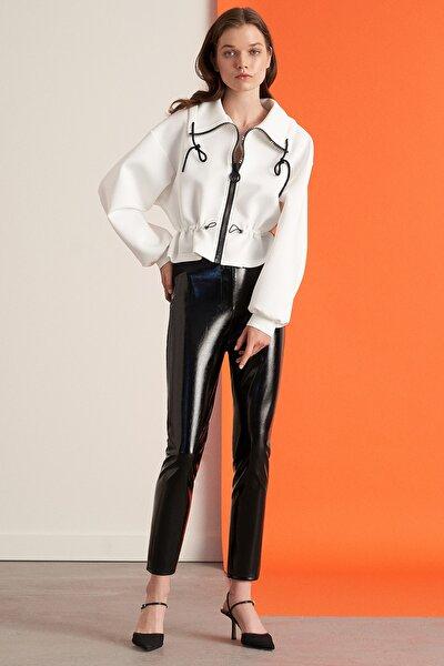 Rugan Kumaş Karışımlı Pantolon