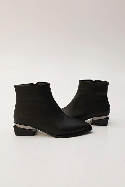 Kadın Siyah Nolan Topuklu Bot