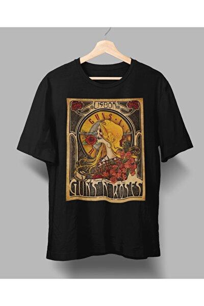 rock poster Guns and Roses  dizayn tasarım baskılı tişört