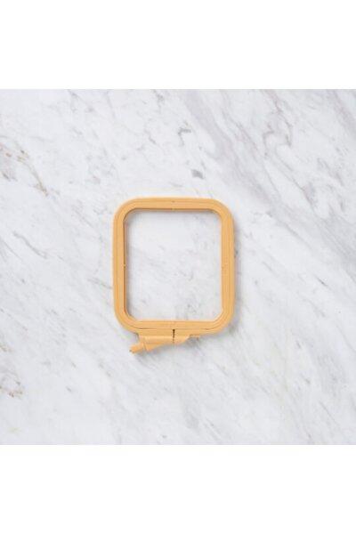 Ahşap Görünümlü Plastik Kare Nakış Kasnağı No:2