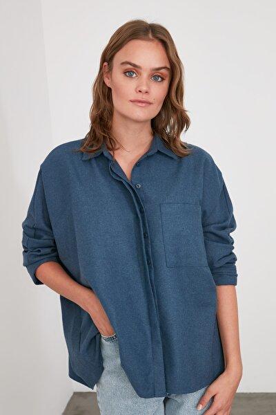 Indigo Cep Detaylı Gömlek TWOAW21GO0351