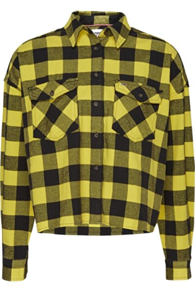 Kadın Sarı Tjw Gıngham Check Shırt Gömlek