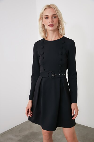 Siyah Kemerli Elbise TWOAW21EL1906