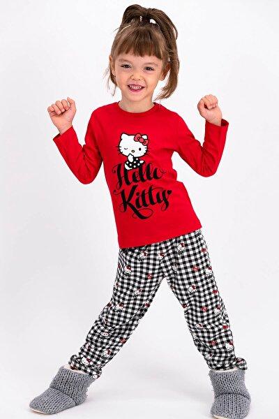 Lisanslı KırmızıKız Çocuk Uzun Kollulu Pijama Takımı