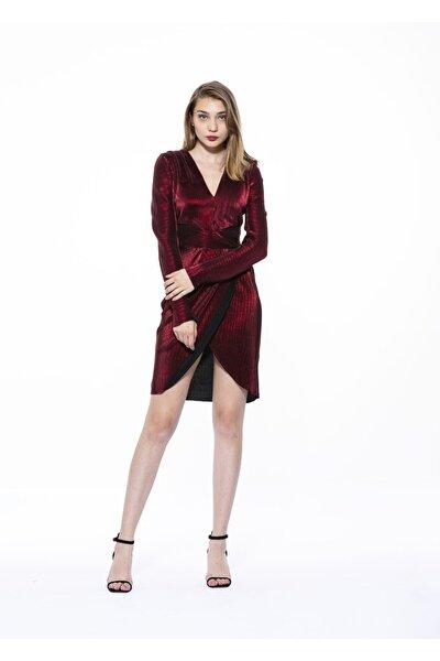 Kadın Kırmızı Örme Elbise