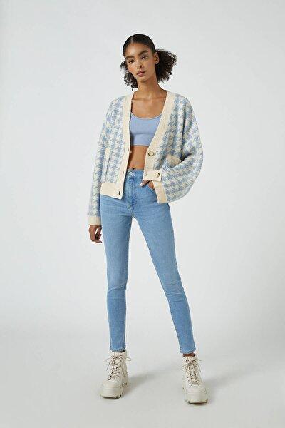 Kadın Açık Mavi Orta Bel Skinny Fit Jean 05682320