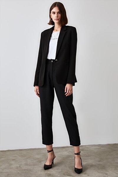 Siyah Basic Pantolon TWOAW21PL0296
