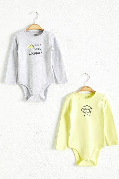 Erkek Bebek Kırıkbeyazmelanj Cx8 Bebek Body & Zıbın