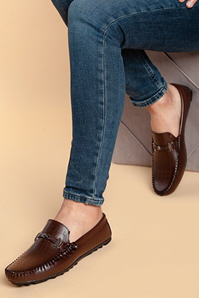 Erkek Kahverengi Nubuk Ayakkabı