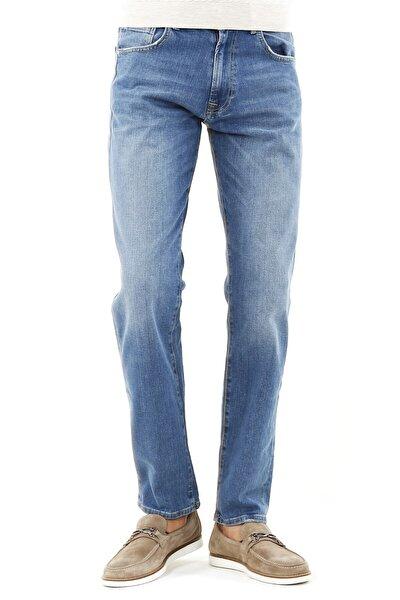 Erkek Lacivert Regular Fit Serili 5 Cep Serili Kot Pantolon