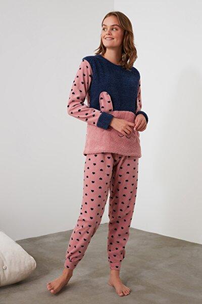 Pembe Nakışlı Wellsoft Pijama Takımı THMAW21PT0653