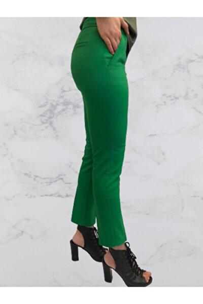 Kadın Yeşil  Kumaş Pantolon