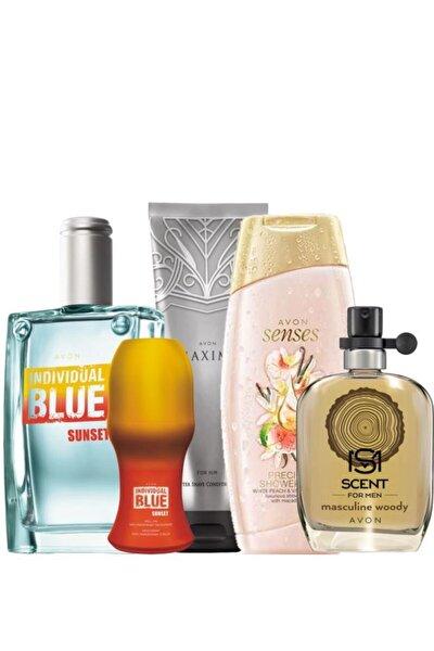 Individual Blue Sunset Masculine Woody Erkek Parfüm Ve Bakım Paketi