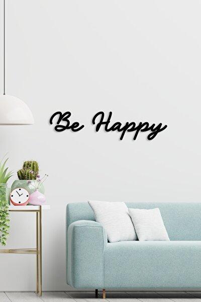Be Happy Ahşap Lazer Kesim Duvar Dekoru