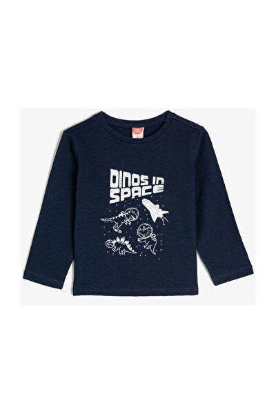 Lacivert Erkek Bebek T-Shirt