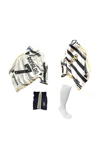 Erkek Çocuk Beyaz Juventus Ronaldo Futbol Forma Takımı