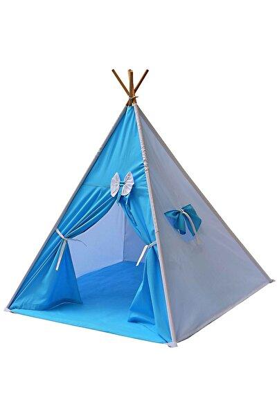 Çoçuk Mavi Kızılderili Oyun Evi Kamp Çadırı