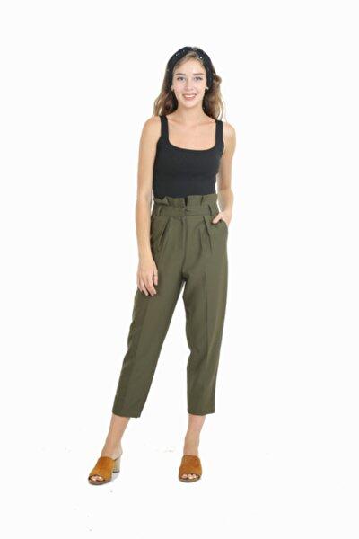 Bayan Trend Giyim Pantolon Kısa Haki