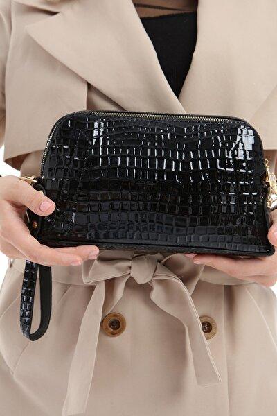 Kadın Siyah El Ve Omuz Çanta