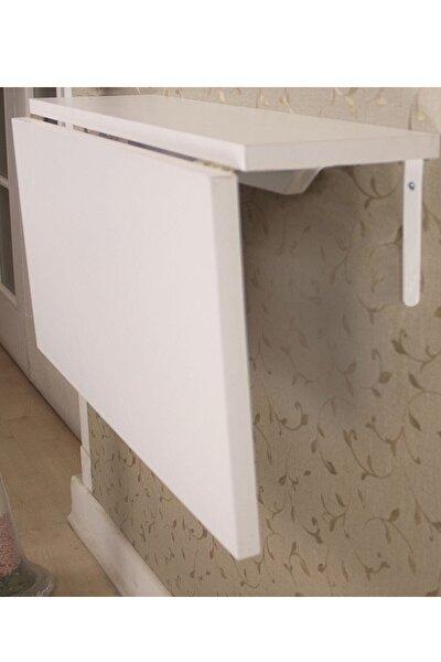 Ahşap Duvara Monteli Katlanır Mutfak Masası 60*90 Cm