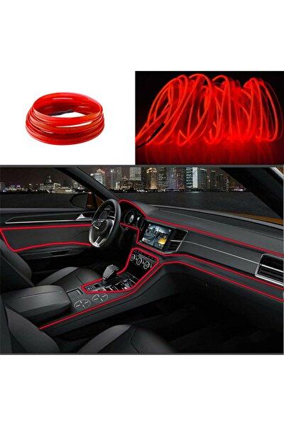 Araç Içi Neon Ledi Ip Led Torpido Ledi 2 Metre Neon Led C9 Kırmızı