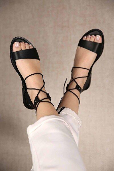 Kadın Bağlamalı Sandalet Siyah