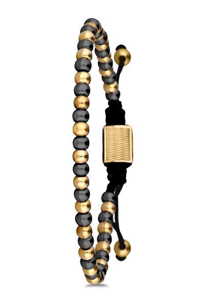 Erkek Sarı Noon Handmade Makrome Bileklik Nn10595-695-b3