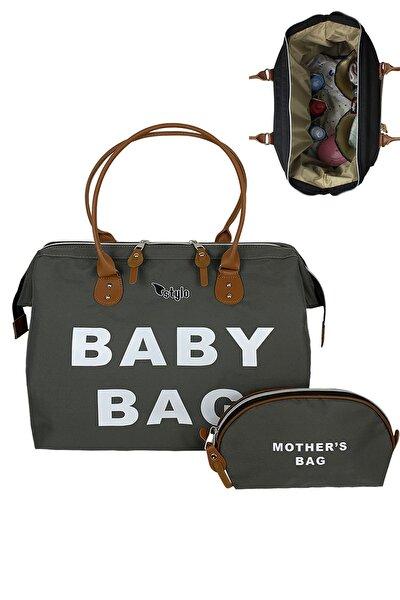 Baby Bag Anne Bebek Bakım Kadın Çantası-gri