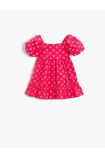 Kız Bebek Pembe Desenli Elbise