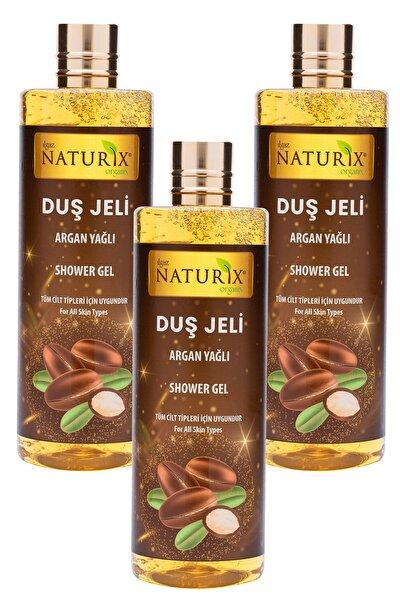 Cilt Pürüzsüzleştirici Natural Argan Yağ Duş Jeli Eko Paket 400 Ml 3'lü Banyo Jeli