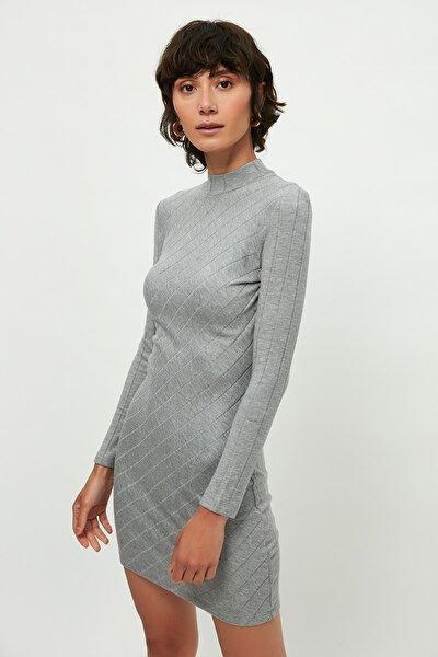 Kadın Orta Kırçıllı Gri Elbise 57918256