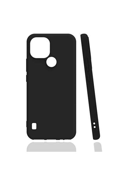 Realme C21 Uyumlu Soft Tasarım Mükemmel Kalıp Silikon Kılı Siyah